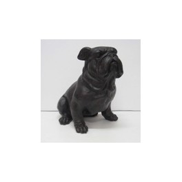 PETIT Bulldog marron en résine