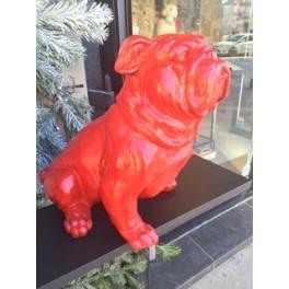 GRAND Bulldog ROUGE en résine